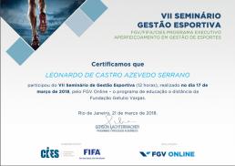 FGV - Seminário Gestão Esportiva